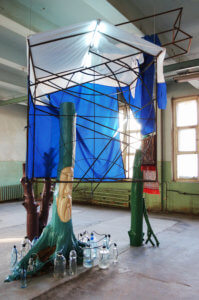 Syncretic Hut, installation view, The 2nd Ural Industrial Biennale of Contemporary Art, 2012
